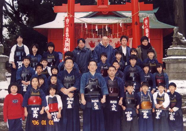 須賀川市神炊館神社にて